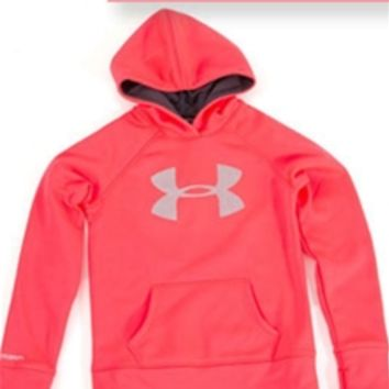 Under Armour Glitter Big Logo Storm Hoodie for Girls 1248367-678