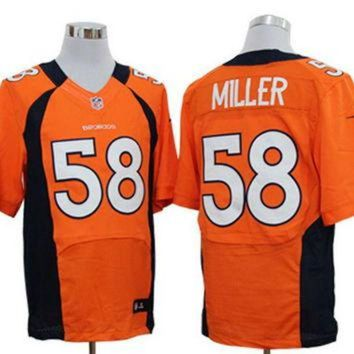 ICIKU3N Nike Broncos #58 Von Miller Orange Team Color Mens NFL Elite Jersey