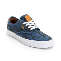 Vans Chima Pro Blue, Tan, & Hawaiian Print Skate Shoe at Zumiez : PDP