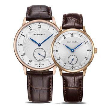 Leisure Automatic Mechanical Genuine Leather Waterproof Watch with Rome Digital Business for Various Occasions 519.11.6009