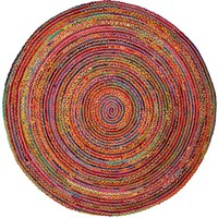 Safavieh Cape Cod Red/Multi 3 ft. x 3 ft. Round Area Rug-CAP202A-3R - The Home Depot