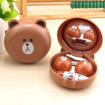 LIUSVENTINA cute bear contact lens case for lenses container box for glasses