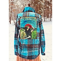Right Kind of Weird- Turquoise Flannel Angry Minnow Vintage