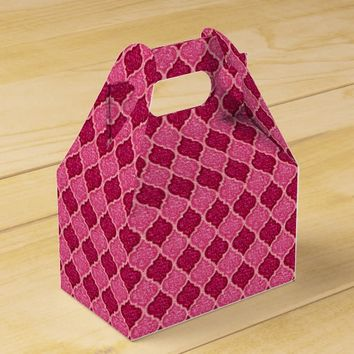 MQF-Sequins-Pink Magenta-Gable Favor Box