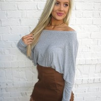 Marissa Top- Grey // DEAL OF THE DAY - These Three Boutique