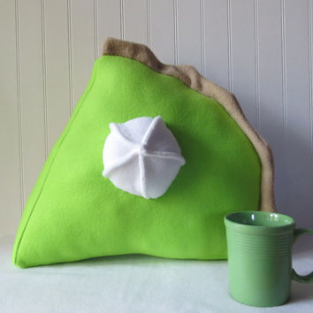 Key Lime Pie Slice Pillow, Plush Pie, Food Pillow, Food Plush