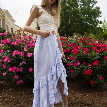 BB Dakota Go Gingham Maxi Skirt