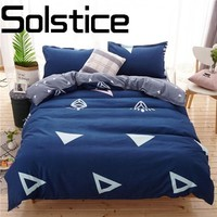 Solstice Home Thick brushing fashion 3/4pcs active printing and dyeing letters skin comfort bedding linen bed cover pillowcase