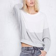 Free People Womens Tri Color Pullover