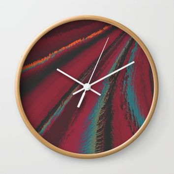 Cozy Sweater - glitch- Wall Clock by DuckyB