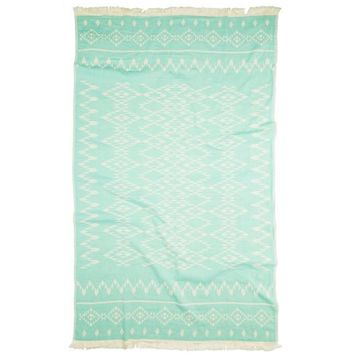 Turkish-T - Kilim Beach Towel | Mint