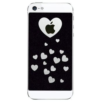 Velvet Stars iPhone 5 Decal - Hearts iPhone 5 Stickers -  Dots iPhone5 Decal