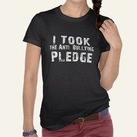 Anti Bullying Pledge Tee Shirts from Zazzle.com