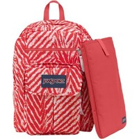 "JanSport Digital Student Backpack - Coral Peaches Wild At Heart / 17.5""H x 13""W x 10""D"