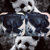 Panda Bra: animals, rave attire, rave wear, festival, cosplay, edc, edc bra, rave bra, edm, zoo, bear