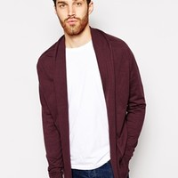 ASOS Cardigan In Cotton - Burgandy