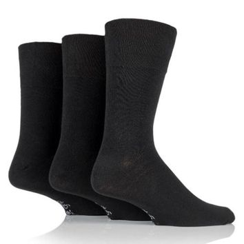 Non Binding Socks for Men or Women in Solid Black