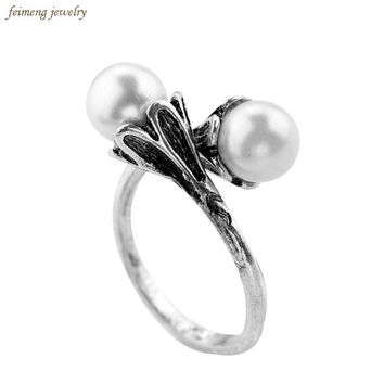 GOT Rings Daenerys Targaryen Simulated Pearl White