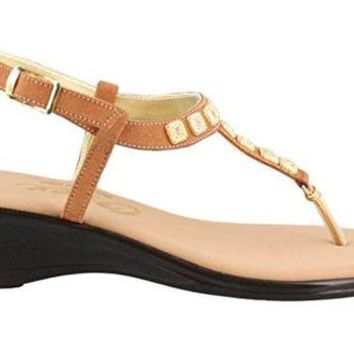 DCCKAB3 Onex Sprinkles Tan Suede Low Heel Sandals