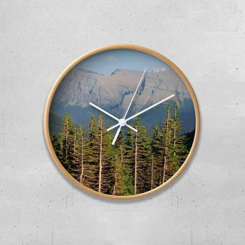 "Pine Forest and Mountainside 10"" Wall Clock"