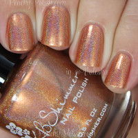 Run! It's The Coppers! Holographic Nail Polish - 0.5 Oz Full Sized Bottle