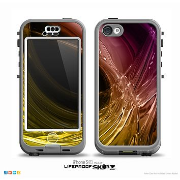 The Colorful Mercury Splash Skin for the iPhone 5c nüüd LifeProof Case