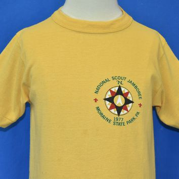 70s Boy Scout Jamboree Moraine State Park t-shirt Youth Large