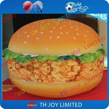 free shipping! 4m/13.5ft giant inflatable hamburger inflatable burger,inflatable food advertising balloon