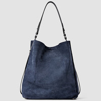 ALLSAINTS UK: Womens Paradise North South Tote (PETROL BLUE/BLACK)
