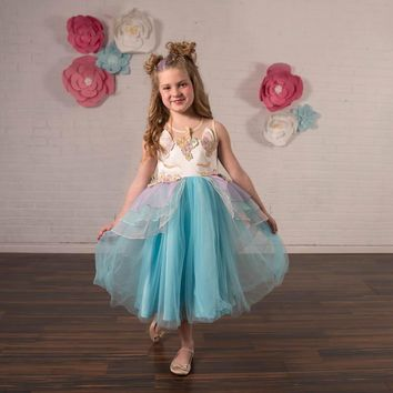 Unicorn Mint Blue Tulle Dress