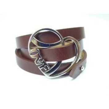 LOVE Bracelet Leather Brown Adjustable Band