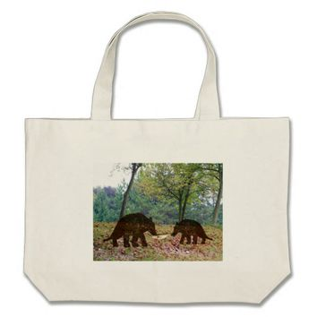 Wild Brown Bears Large Tote Bag