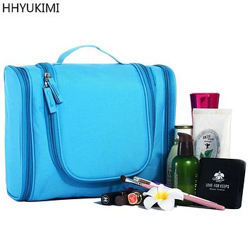 HHYUKIMI Fashion Men Hanging Cosmetic Bag Travel Portable Beautician Make Up Bag Cosmetics Organizer Women Bathroom Washbag