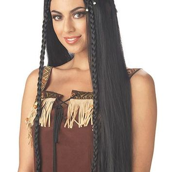 Sexy Indian Princess Wig (One Size,Black)