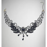 Rosette Lace Choker Necklace - Spencer's