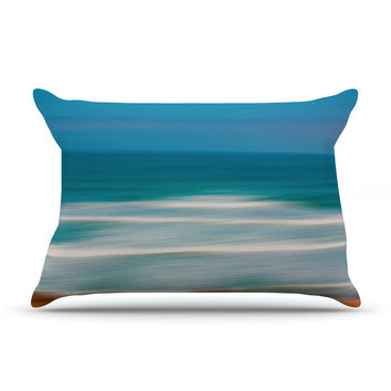 "Ann Barnes ""Sun and Sea"" Blue Aqua Pillow Sham"