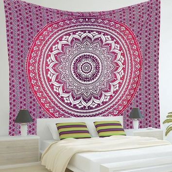 2016 Indian Mandala Tapestry Print Wall Hanging Hippie Tapestries Bohemian Summer Beach Throw Towel Mat Blanket Decor