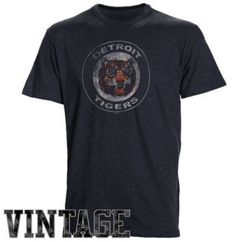 47 Brand Detroit Tigers Scrum Vintage T-Shirt - Navy Blue
