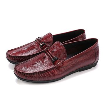 Fashion Black / brown tan summer moccasin shoes mens loafers genuine leather flats casual shoes mens outdoor shoes