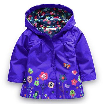 LZH Girls Jacket 2017 Autumn Winter Jacket For Girls Raincoat Coat Kids Outerwear Trench Coat Boys Windbreaker Children Clothes