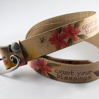 Buy Sumabold Printed Genuine-Leather Belt | YesStyle