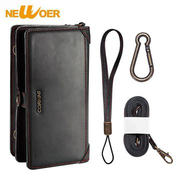 Original NEWOER Luxury Wallet For iphone 6 Plus or iphone 6S Plus Case PU Leather Case With Multi Function And Card Hold