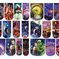 "24 FULL WATER SLIDE NAIL DECALS  NIGHTMARE BEFORE CHRISTMAS ""CHRISTMAS TOWN"""