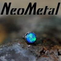 16 Gauge 16g NeoMetal Threadless Implant Grade Titanium Cabochon Gem 2.0mm Press-fit [XCAB 16-2] - $12.99 : Diablo Body Jewelry, The Art of High Quality