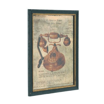 Garrard Swindon - New Bond Street London - British Rotary Dial Telephone Framed Wall Plaque