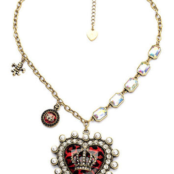 Crown in a Heart Vintage Necklace