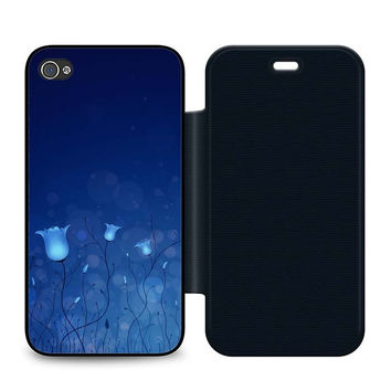 Blue Tulips with Halos Flip iPhone 4 | 4S Case