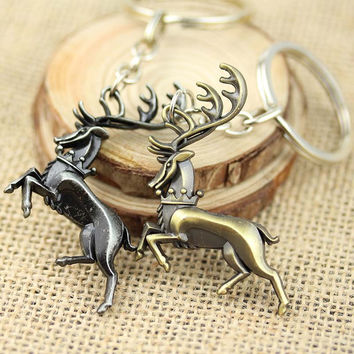 2016 Newest Game of Thrones Keychain ,Fashion House Baratheon Family Signs Key Ring 1 pc