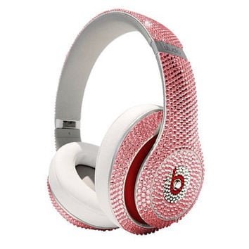 Swarovski Crystal Beats By Dre Studio Bling Headphones - Light Pink Crystallized Beats By Dre