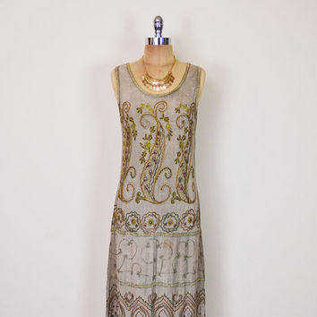 Vintage 90s 70s Olive Green India Dress Ethnic Dress India Embroider Dress India Maxi Dress 70s Hippie Dress Hippy Dress Boho Dress S Small